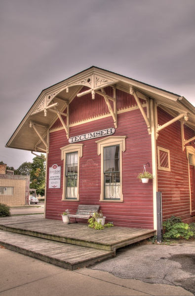 Southeast Michigan Railroad Depots in HDR by SDNowakowski