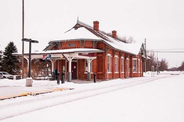 Southeast Michigan Railroad Depots in the Snow Jan-2014...