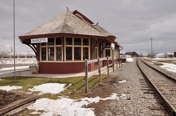 Marlette Railroad Depot by SDNowakowski
