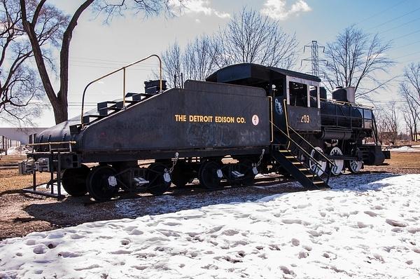 Detroit Edison #203 Steam Locomotive by SDNowakowski