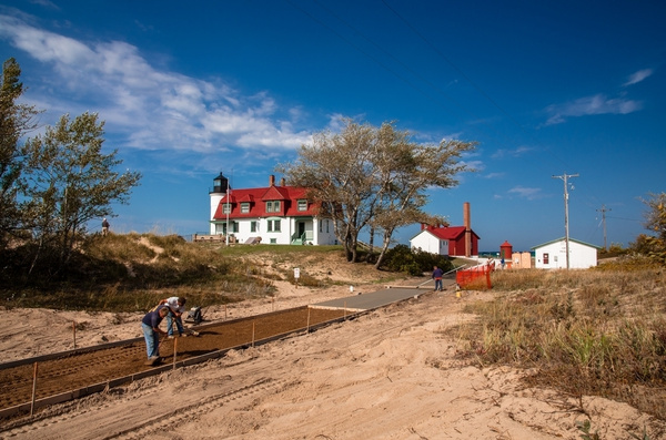 Point Betsie Lighthouse (Lake Michigan) by SDNowakowski