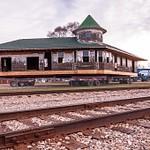 Clare Michigan Railroad Depot on the Move