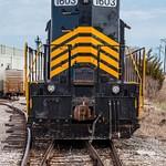 Maumee & Western Diesel Locomotive sitting in Napoleon, Ohio