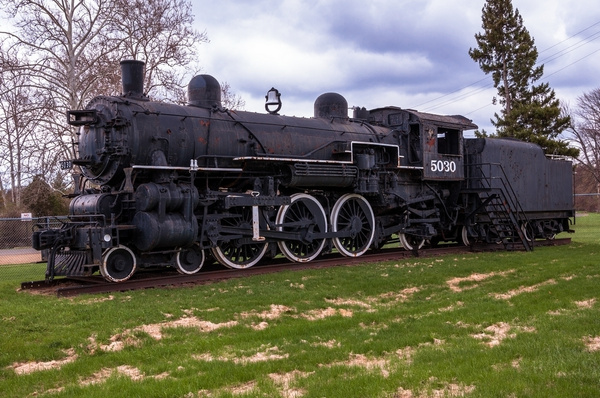 GTW #5039 Steam Locomotive on Display in Jackson, MI. by...
