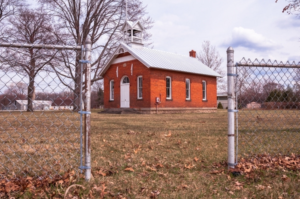 Old Whiteford Township School house April 2014 by...
