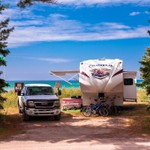 Lakefront Camp site @ Wilderness State Park in Northern, Michigan.