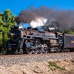 NKP #765 Steam Locomotive Westbound Through Adrian, MI.