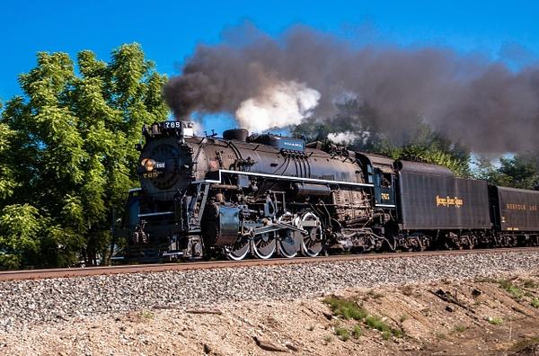 NKP #765 Steam Locomotive Westbound Through Adrian, MI....
