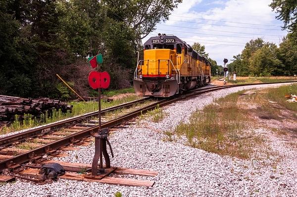 Ann Arbor Railroad Diesel Locomotives @ Saline Diamond...