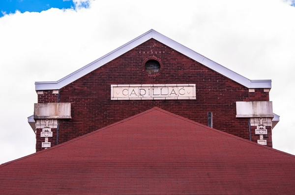 Cadillac Railroad Station & Shay Steam Locomitive in...