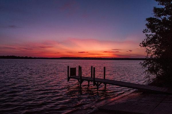 Green Lake Sunset Aug. 2014 by SDNowakowski