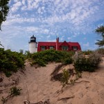2014 Point Betsie Lighthouse from the water and land