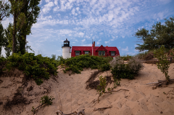 2014 Point Betsie Lighthouse from the water and land by...