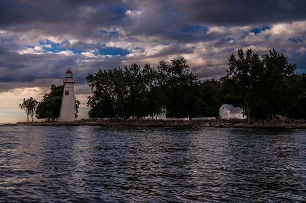 Sunrise over Lake Erie from Marblehead Light Station by...