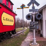Saline RR Depot & Museum in late fall of 2014