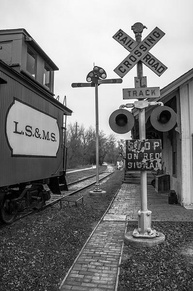 Saline RR Depot & Museum in B&W 2014 by SDNowakowski