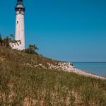 South Manitou Island & Lighthouse on Lake Michigan