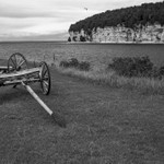Fayette State Park & Historical Village in B&W