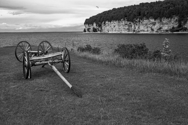 Fayette State Park & Historical Village in B&W by...