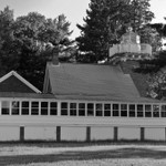 Sand Point Lighthouse in the Upper Peninsula of Michigan in B&W