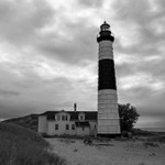Big Sable Point Lighthouse in B&W