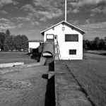 Henry Ford Lumber Mill in the Upper Peninsula of Michigan in B&W