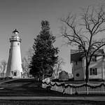 Marblehead Lighthouse @ Christmas & B&W