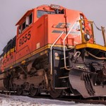 Two BNSF Units @ Detroit Edison in Trenton, MI.