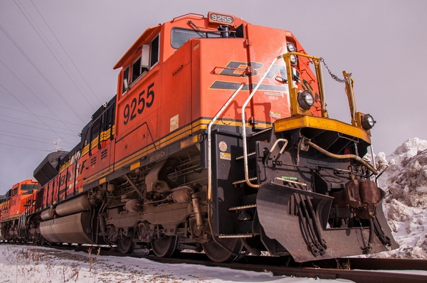 Two BNSF Units @ Detroit Edison in Trenton, MI. by...