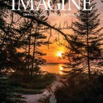 Sunset @ Wilderness State Park on the cover of Emmet County advertising Brochure for Northern Mich.