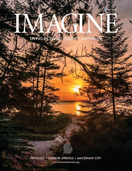 Sunset @ Wilderness State Park on the cover of Emmet...