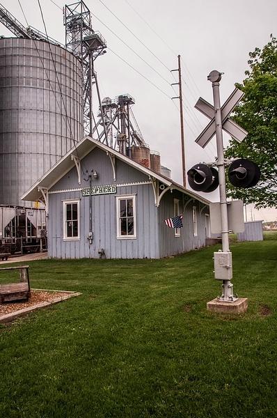 Sheperd Railroad Depot & Museum in Sheperd, Michigan by...