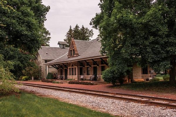 Jonesville Railroad Depot in June 2015 by SDNowakowski