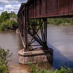 Old Railroad Bridge over the Manistee River in Mesick, Michigan