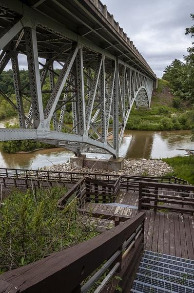 M-55 Bridge over the Pine River in Wellston, Michigan by...