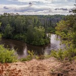 Sand Dune on the edge of the Manistee River south of Fife Lake, Michigan