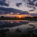 2015 Sunset Pictures from Manton Campground in Manton, Michigan