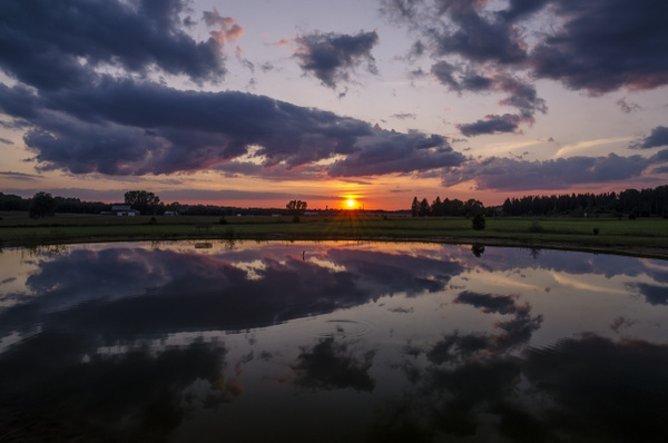 2015 Sunset Pictures from Manton Campground in Manton,...