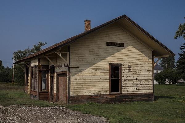 2015 Amasa Railroad Depot in Amasa, Michichigan in the...
