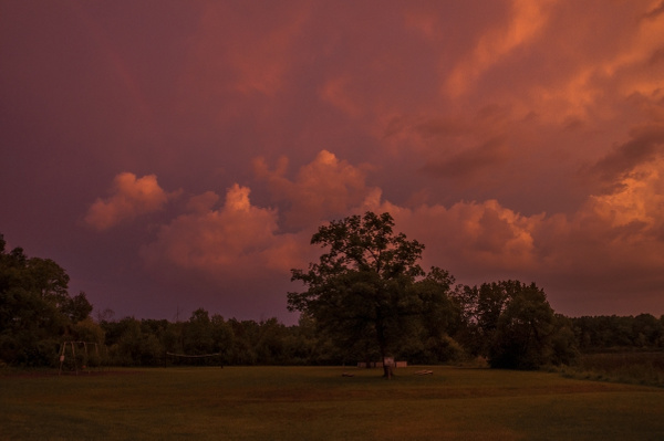 2015 Labor Day Weekend Storms over Brighton State...