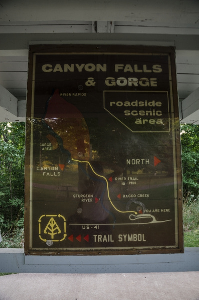 2015 Canyon Falls Rest Area in the Upper Peninsula of...