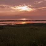 2015 Foggy Sunrise over Little Bay De Noc in Gladstone, Michigan