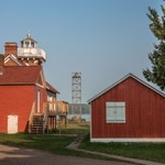 2015 Sand Point Lighthouse in Baraga, Michigan on Lake Superior