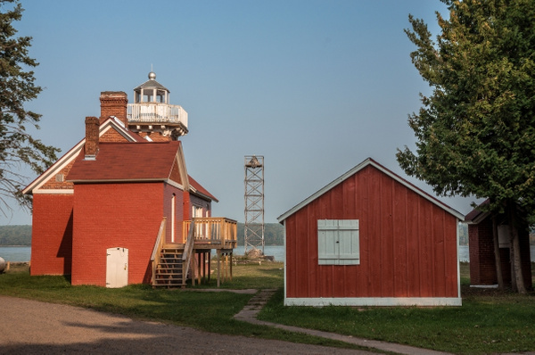 2015 Sand Point Lighthouse in Baraga, Michigan on Lake...