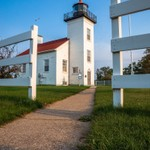 2015 Sand Point Lighthouse in Escanaba, Michigan in August