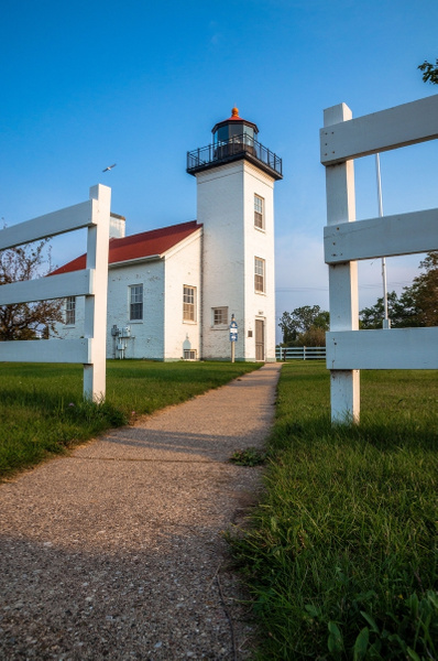 2015 Sand Point Lighthouse in Escanaba, Michigan in...
