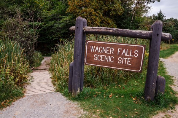 Wagner Falls south of Munising, Mi. in the Upper...
