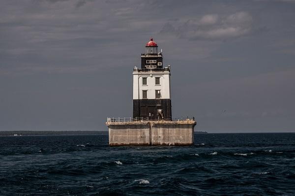 2015 Poe Reef Light in Lake Huron by SDNowakowski