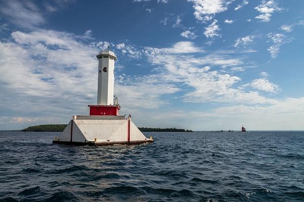 2015 Round Island Lighthouse & Passage Light in Lake...