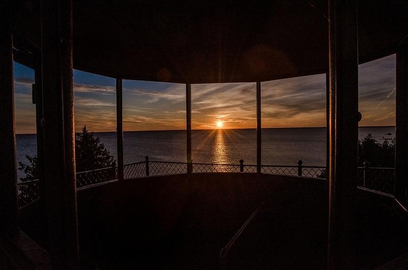 Sunset over Lake Michigan